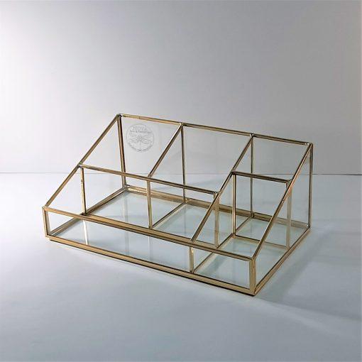 mk up 02 box (L) pirinç cam kutu/ organizer