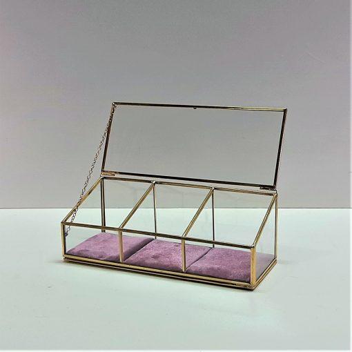 makyaj kutusu, mücevher kutusu, dekoratif cam kutu, pirinç kutu
