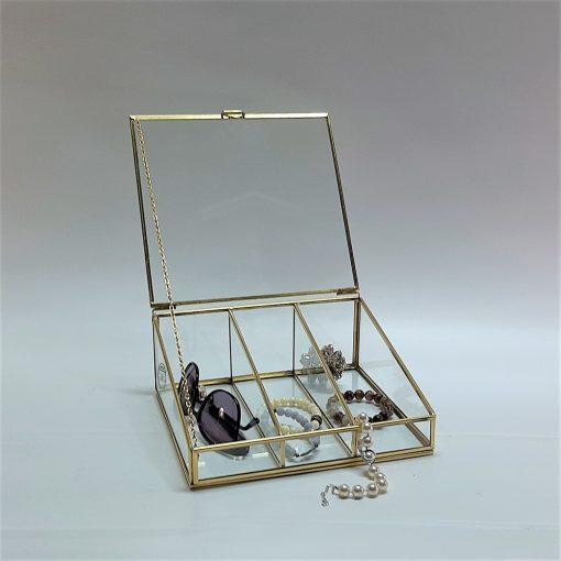 3'lü pirinç cam gözlük kutusu